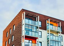 Apartment house residential building real estate. Concept royalty free stock images