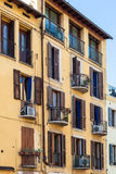 Apartment house in Verona city in spring. Travel to Italy - apartment house on street Interrato dell Acqua Morta in Verona city in spring Royalty Free Stock Photos