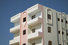 Apartment House With Balcony Stock Photography