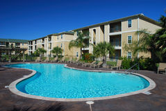 Free Apartment House With Pool Royalty Free Stock Image - 4145176