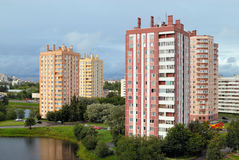 Apartment houses Stock Images