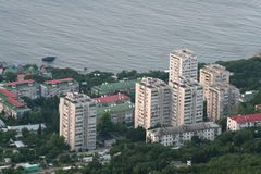 Apartment houses in Foros (Crimea) Stock Photos
