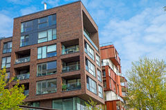 Apartment houses in the Hafencity Royalty Free Stock Photography