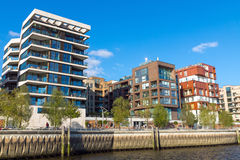 Apartment houses in the Hafencity Stock Image