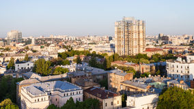 Apartment houses in Kiev city in spring dawning Royalty Free Stock Image