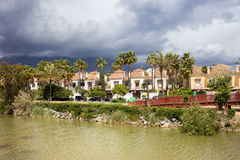 Apartment Houses in Marbella Stock Photos