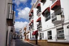 Apartment Houses in Nerja Town Stock Photo