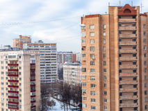 Apartment houses in residential district in winter Stock Photography