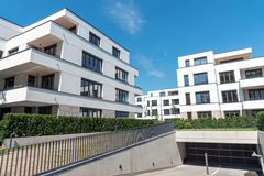Apartment houses with underground parking Royalty Free Stock Image