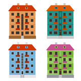 Apartment houses Stock Photography