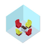 Apartment Illustration in Isometric Projection Royalty Free Stock Photos