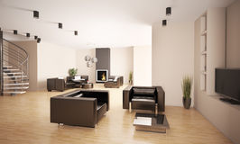 Apartment interior 3d Stock Image