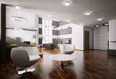 Apartment interior 3d render Royalty Free Stock Images