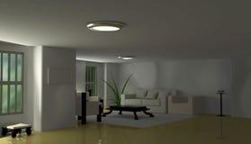 Apartment Interior. Simple 3d apartment Interior, horizontal Royalty Free Stock Image