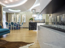 Apartment interior. Apartmen  interior design and decoration Royalty Free Stock Photo