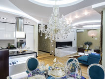 Apartment interior. Apartmen living room interior design and decoration Royalty Free Stock Image