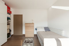 Apartment interior, bedroom Royalty Free Stock Photos