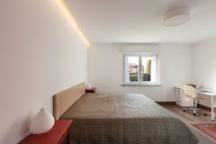 Apartment interior, bedroom Stock Images