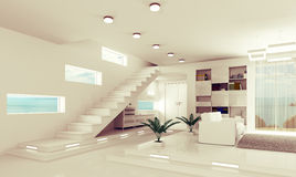 Apartment interior 3d render Stock Photos