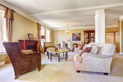 Apartment interior. Family room with dining area Stock Image