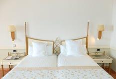 Apartment interior in the luxury hotel stock photo