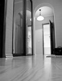 Apartment interior view. In black and white Royalty Free Stock Image