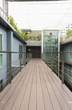 Apartment interior. With walkway bridge and glass lift Royalty Free Stock Images
