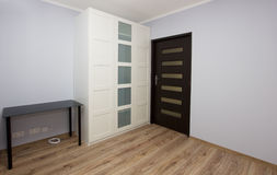 Apartment interior with wardrobe Royalty Free Stock Photos