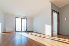 Apartment interior with wooden floor Stock Photo
