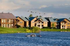 Apartment lake Royalty Free Stock Photography