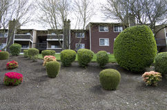 Apartment landscaping design Royalty Free Stock Image