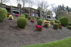 Apartment landscaping design Stock Photo