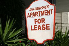 Apartment Lease Sign royalty free stock photography