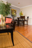 Apartment living room and dinning area Stock Photo
