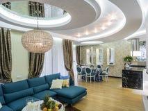 Apartment living room interior. Apartment dinning room, interior design, furniture and decoration Stock Images