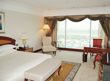 Apartment in luxurious hotel. With a view on Dubai, UAE Stock Photography