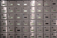 Apartment mailboxes Stock Photography