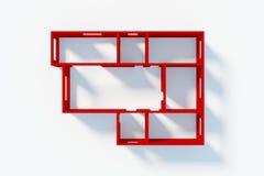 Of Apartment modèle de papier illustration stock