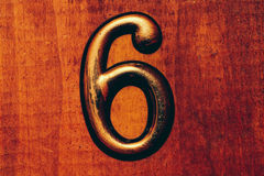 Apartment number six close up photo Royalty Free Stock Photo