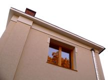 Apartment outside view. With window - detail royalty free stock image