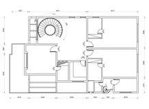 Apartment plan blueprint Royalty Free Stock Images