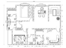 Apartment plan blueprint Royalty Free Stock Photos