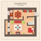 Apartment Plan Illustration Royalty Free Stock Image