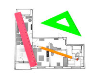 Apartment plan Royalty Free Stock Images