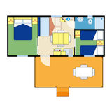 Apartment plan Royalty Free Stock Image
