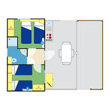 Apartment plan Stock Photo