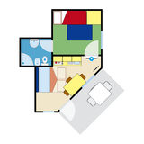 Apartment plan Royalty Free Stock Photo
