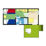Apartment plan Royalty Free Stock Photos