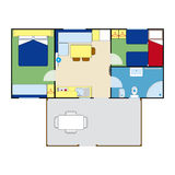 Apartment plan Royalty Free Stock Photography