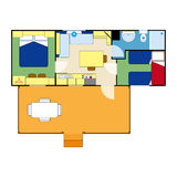 Apartment plan Stock Photography